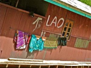 Arriving into Laos, along the Mekong river.