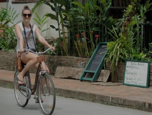 The best way to explore the streets of Luang Prabang.