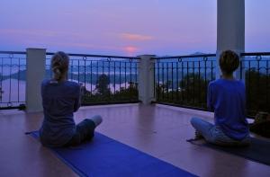 Beautiful sunset from my yoga mat.