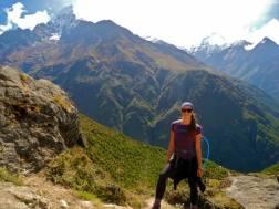 Hiking to Everest Base Camp.