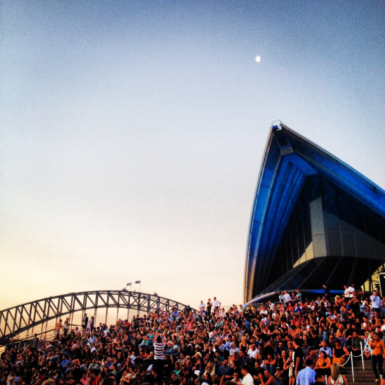 The stunning forecourt of the Sydney Opera House