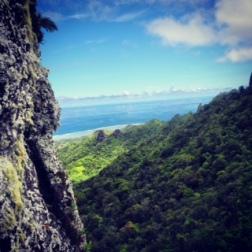 The view of Rarotonga, from the Needle