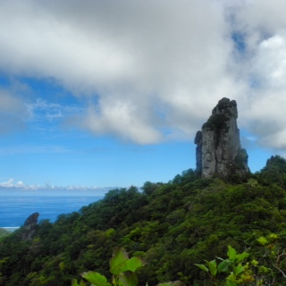 'The Needle' a popular viewpoint on the Cross Island trek on Rarotonga