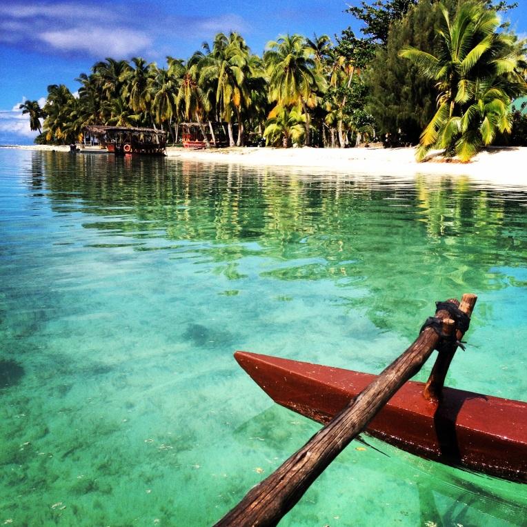 Arrival at the Aitutaki Lagoon Resort & Spa