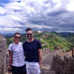 Trent & I exploring the wall