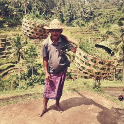 A meeting with the locals on route to Tedjakul in Northen Bali.