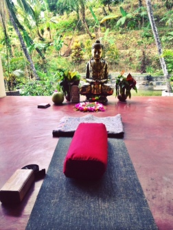 Ah the serenity! Our Yoga space.