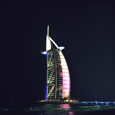 Burj night time