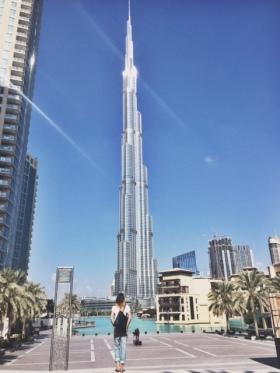 The impressive Burj Khalifa & me