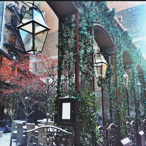 The stunning Ivy covered exterior of the Mondrian Soho