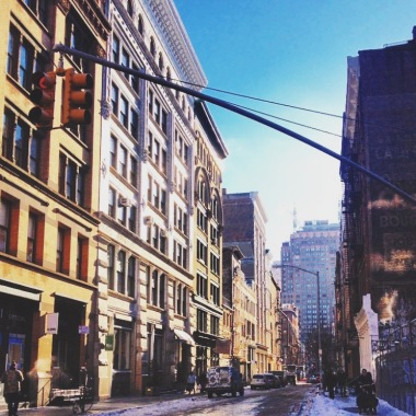 Snowy SoHo mornings!