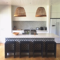 A second kitchen space for guests to make use of.
