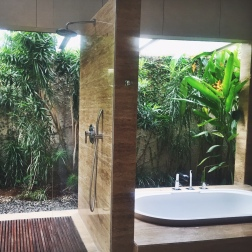 Indoor/Outdoor Bathrooms