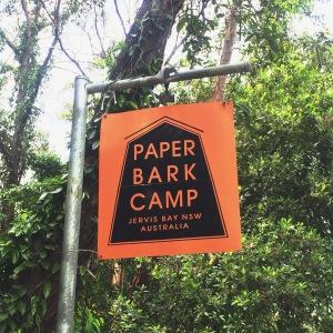 paperbark camp sign